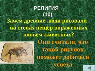 РЕЛИГИЯ (10) Зачем древние люди рисовали на стенах пещер пораженных копьем жи