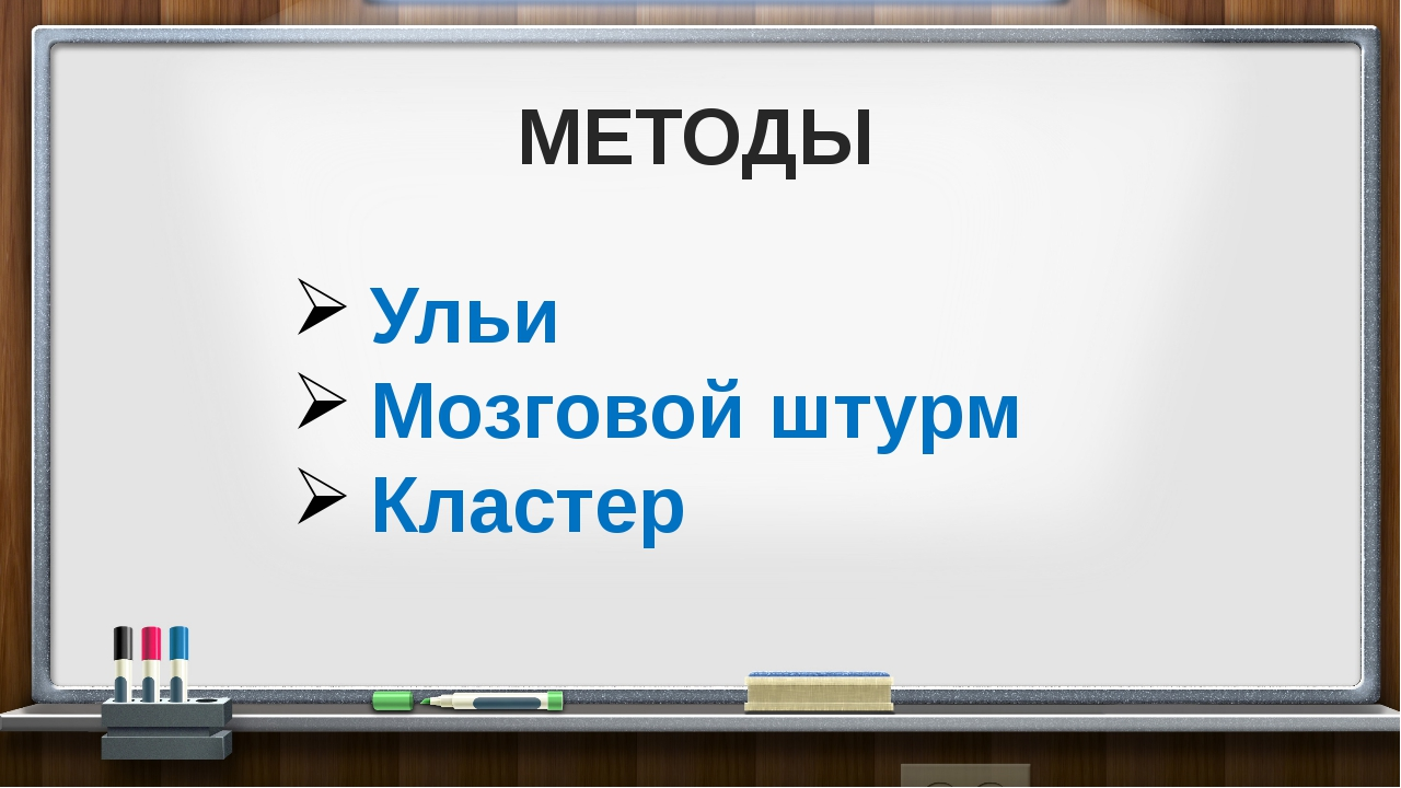 МЕТОДЫ Ульи Мозговой штурм Кластер