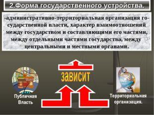 2.Форма государственного устройства. -административно-территориальная организ