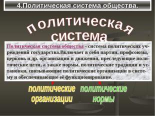 4.Политическая система общества. Политическая система общества - система поли