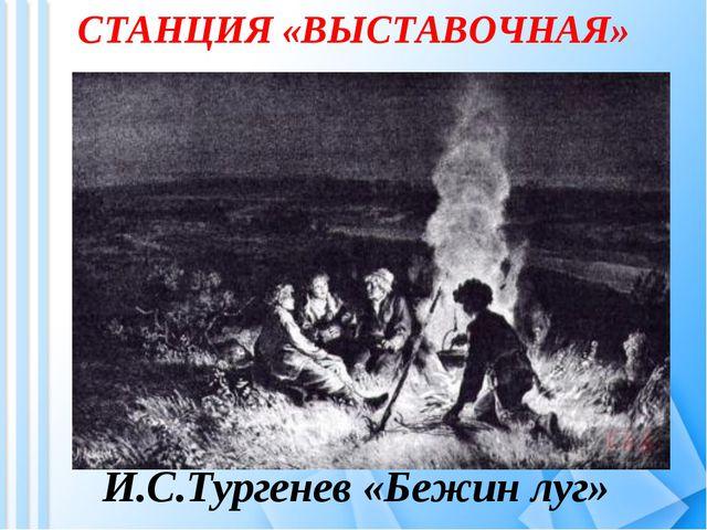 СТАНЦИЯ «ВЫСТАВОЧНАЯ» И.С.Тургенев «Бежин луг»