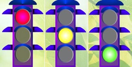 Какой свет светофора разрешает идти?