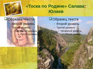 «Тоска по Родине» Салават Юлаев