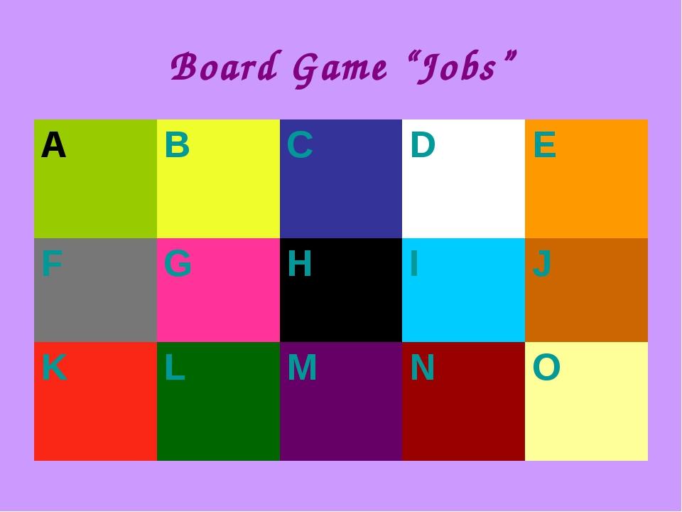 "Board Game ""Jobs"""