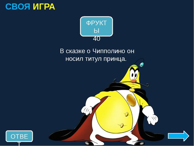 СВОЯ ИГРА -ОЛО- 20 ОТВЕТ В сказке А. С. Пушкина она была говорящей. ГОЛОВА