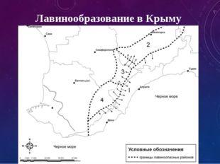Лавинообразование в Крыму