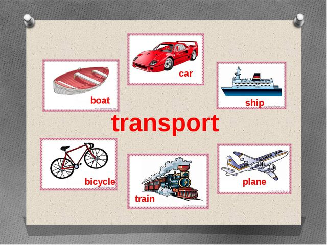 transport boat car ship bicycle train plane