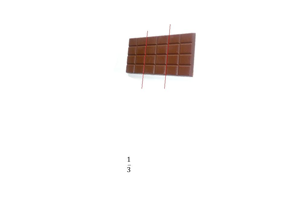 Трое друзей решили разделить шоколадку поровну. Какая часть достанется каждом...