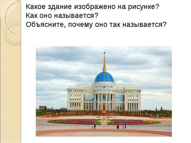 Какое здание изображено на рисунке? Как оно называется? Объясните, почему оно...