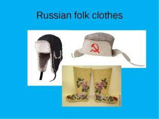 Russian folk clothes