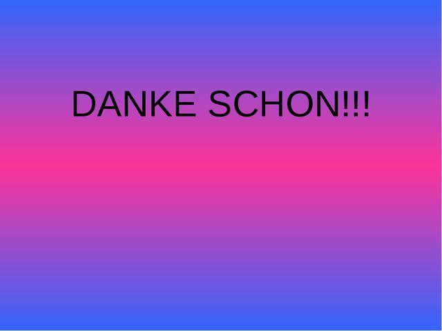 DANKE SCHON!!!