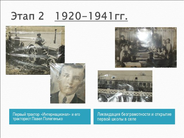 Первый трактор «Интернационал» и его тракторист Павел Полегенько Ликвидация б...