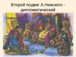 Второй подвиг А.Невского - дипломатический