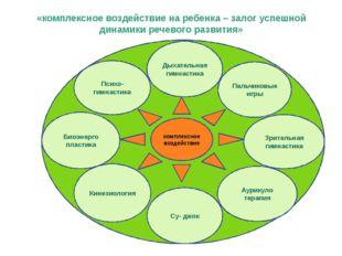 «комплексное воздействие на ребенка – залог успешной динамики речевого развит