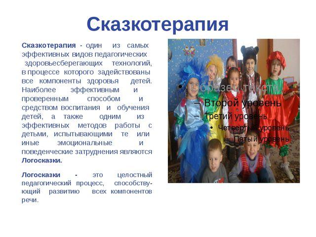 Сказкотерапия Сказкотерапия - один из самых эффективных видов педагогических...