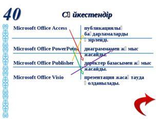 Сәйкестендір Microsoft Office Access публикациялық бағдарламаларды әзірлейд