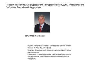 Первый заместитель Председателя Государственной Думы Федерального Собрания Ро