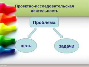 Проектно-исследовательская деятельность Проблема цель задачи