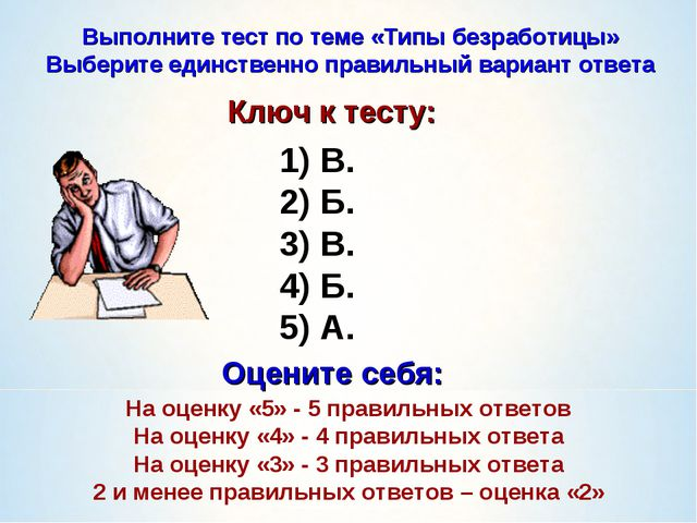 В. Б. В. Б. А. Выполните тест по теме «Типы безработицы» Выберите единственн...