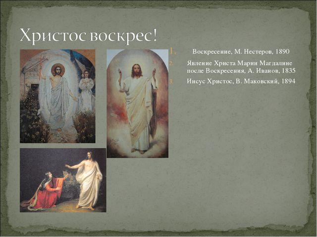 Воскресение, М. Нестеров, 1890 Явление Христа Марии Магдалине после Воскресе...
