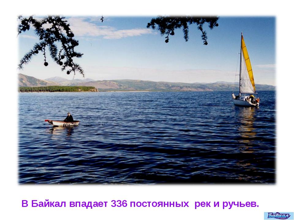 В Байкал впадает 336 постоянных рек и ручьев.