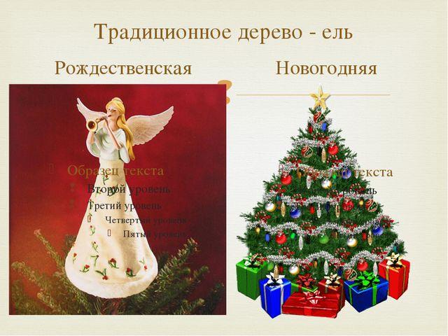 Традиционное дерево - ель Рождественская Новогодняя 