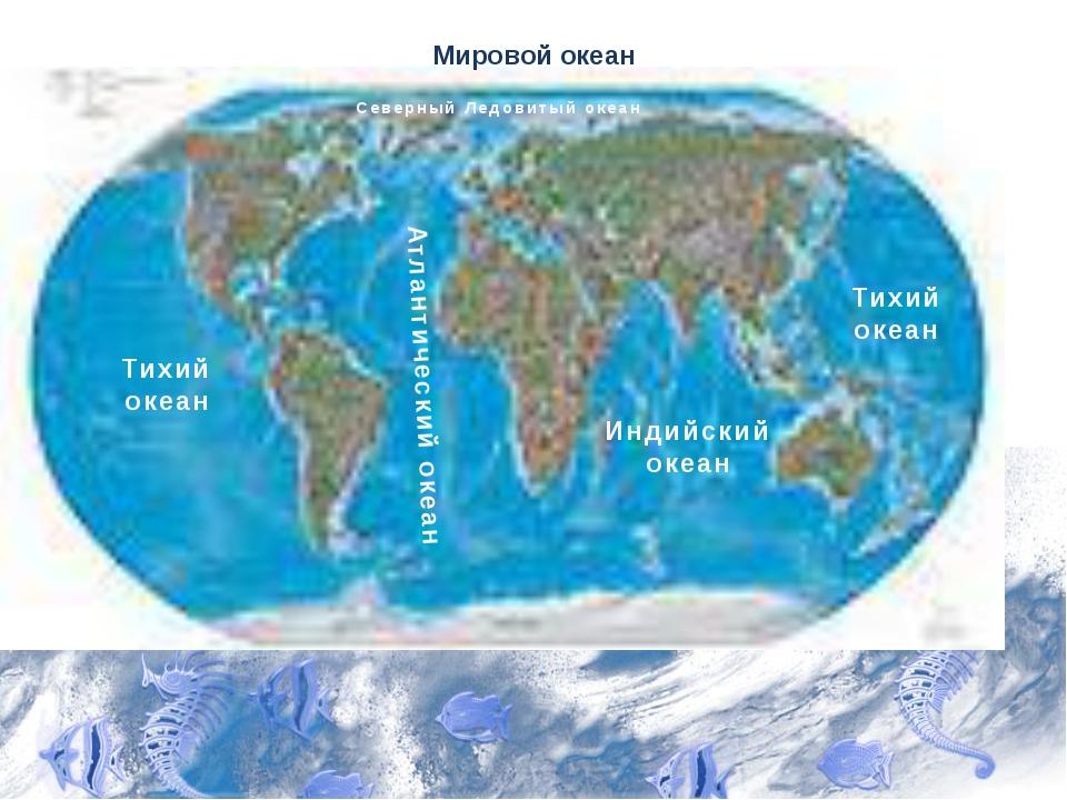 Мировой океан Тихий океан Атлантический океан Индийский океан Тихий океан Сев...