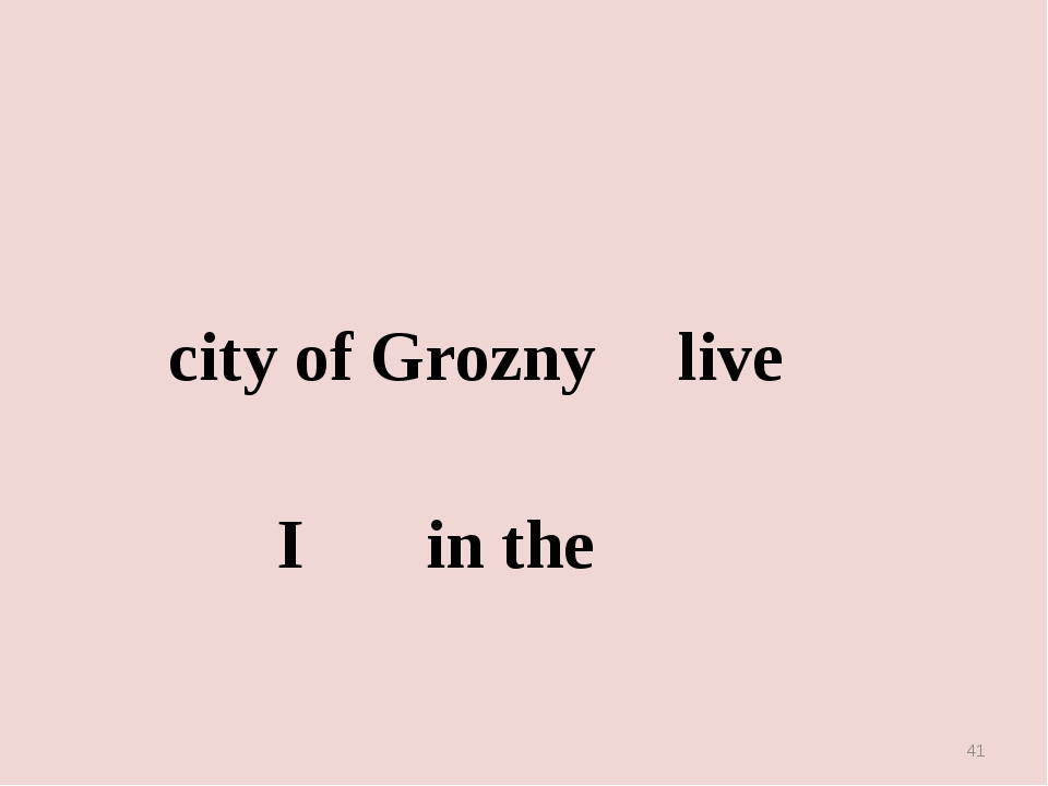 city of Grozny live I in the *