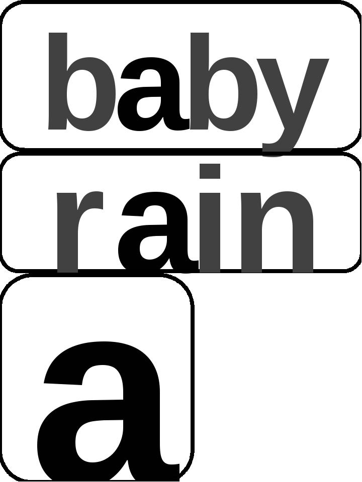 baby rain a фон зар