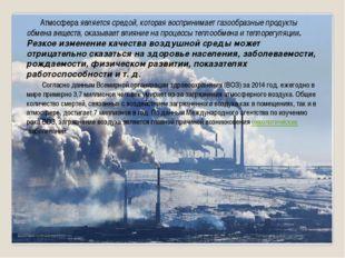 Атмосфера является средой, которая воспринимает газообразные продукты обмена
