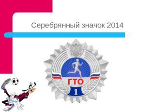 Серебрянный значок 2014