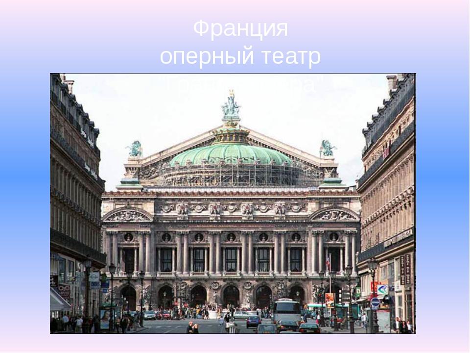 "Франция оперный театр ""Гранд - опера"" Остановка третья: Франция – родина «бал..."