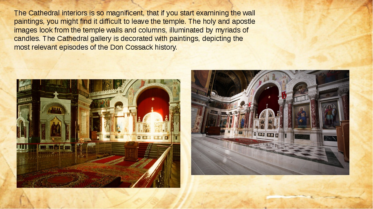The Cathedral interiors is so magnificent, that if you start examining the wa...