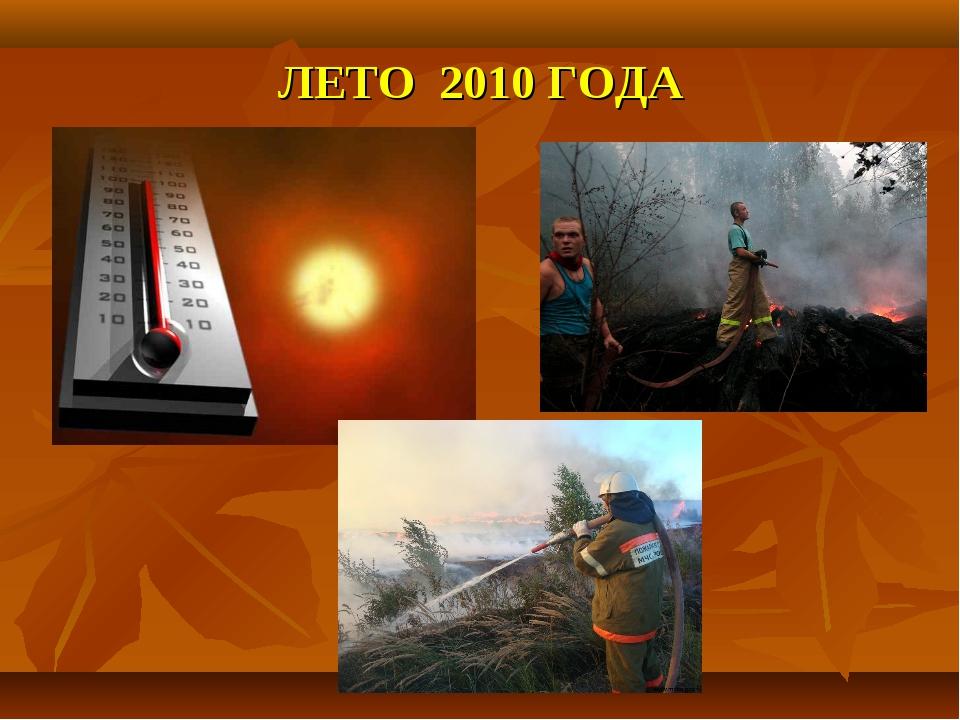 ЛЕТО 2010 ГОДА