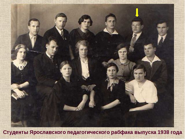 Студенты Ярославского педагогического рабфака выпуска 1938 года