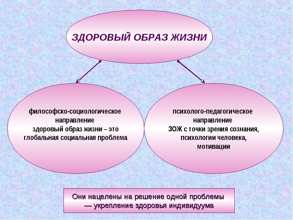 ЗДОРОВЫЙ ОБРАЗ ЖИЗНИ философско-социологическое направление здоровый образ жи...