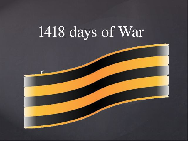 1418 days of War {