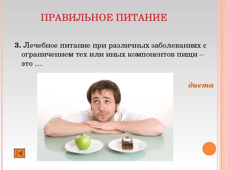 ПРАВИЛЬНОЕ ПИТАНИЕ 3. Лечебное питание при различных заболеваниях с ограничен...