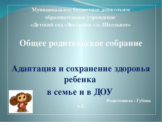 Муниципальное бюджетное дошкольное образовательное учреждение «Детский сад «...