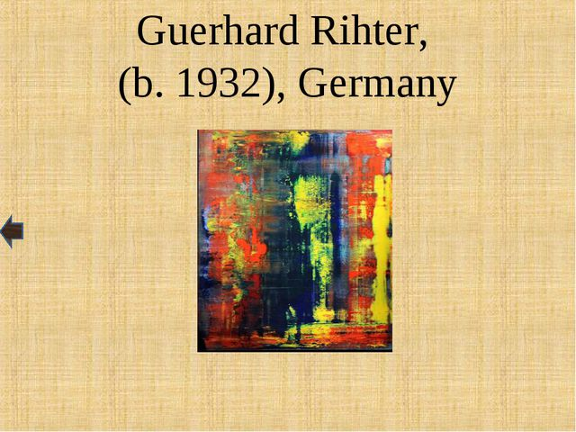 Guerhard Rihter, (b. 1932), Germany