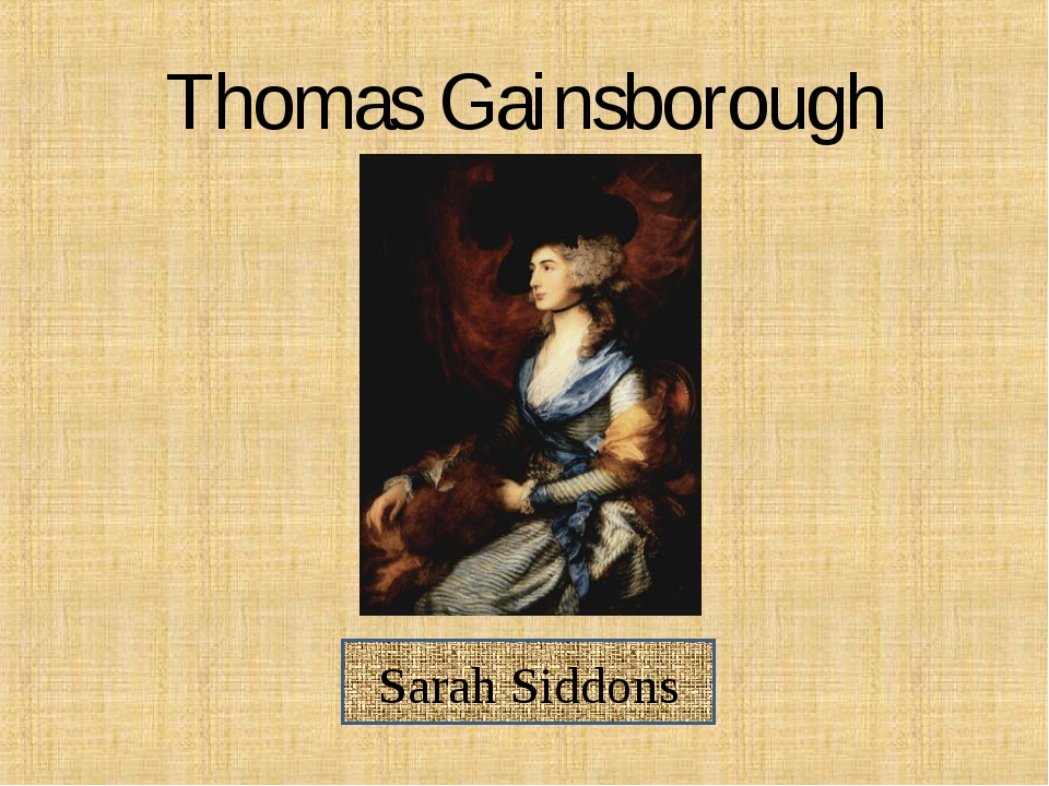 Thomas Gainsborough Sarah Siddons
