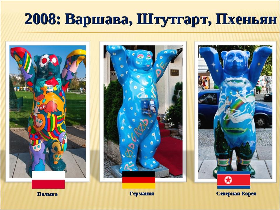 2008: Варшава, Штутгарт, Пхеньян Северная Корея Германия Польша