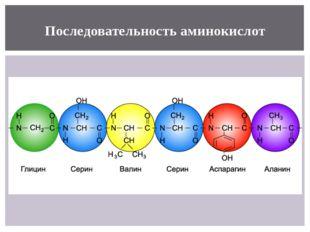 Последовательность аминокислот