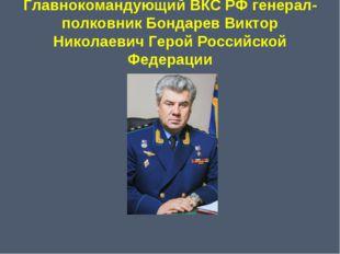 Главнокомандующий ВКС РФ генерал-полковник Бондарев Виктор Николаевич Герой Р