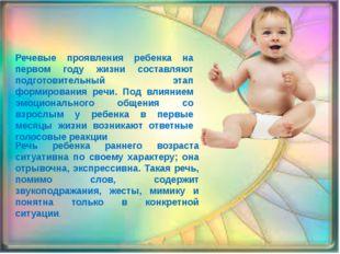 Речевые проявления ребенка на первом году жизни составляют подготовительный э