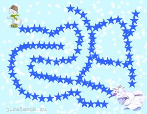 снеговики лабиринт