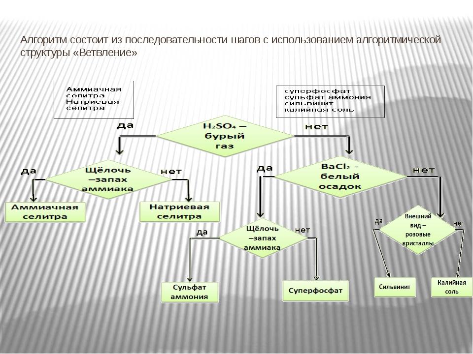 Алгоритм состоит из последовательности шагов с использованием алгоритмической...