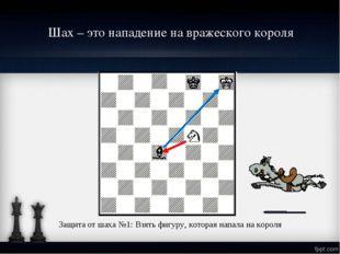 Шах – это нападение на вражеского короля Защита от шаха №1: Взять фигуру, кот
