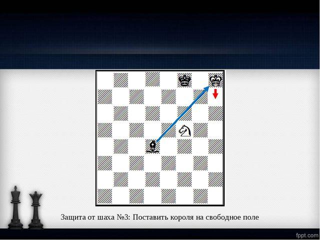 Защита от шаха №3: Поставить короля на свободное поле