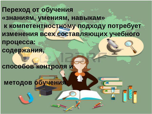Переход от обучения «знаниям, умениям, навыкам» к компетентностному подходу п...